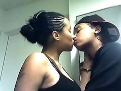 Hot sickly girlfriend kissing and doing intrigue with her black boyfriend