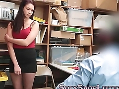 Teen thief ass jizzed