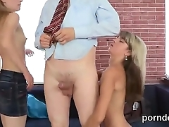 Kissable bookworm gets teased and drilled by her older teacher