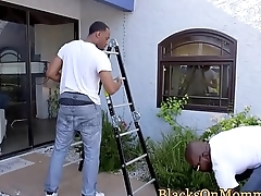 Busty housewife screwed by big black cocks