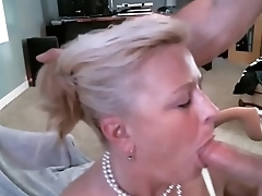 Peaches Milfy Getting a Mouthful of hot and tasty Cum