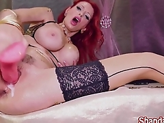 Kinky Milf Shanda Fay Covered in Gold Creams From her Pussy!