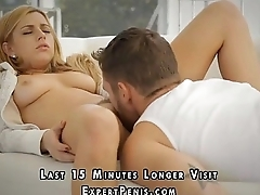 Gorgeous blonde gets big cock for hot sex