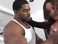 Negroed.com mature old mom with periphery area makeup takes black negro