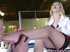 Teen interns feet fucked