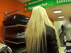 Beautiful czech kitten was teased in the mall and pounded in pov