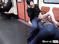 Public Blowjob Barcelona  Subway