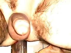 solo gay Dildo fuck. deep and bloody