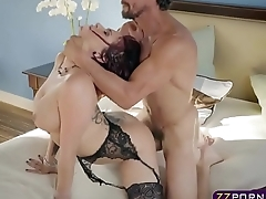 Wife with awesome body with the addition of tits cheating on her husband