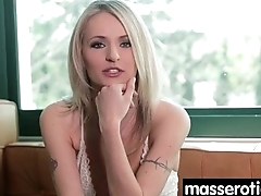 Sensual lesbian massage leads to orgasm 20