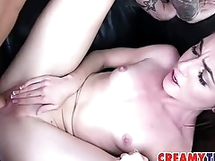 Younger Coed Gets CreamPied