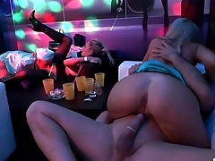 Sexy pornstars taking large cocks in the club