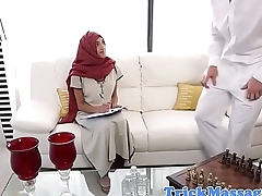 Hijabi cosset massaged on forbidden spots