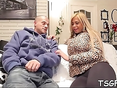 Banging tranny'_s face hole and ass