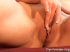 Finger Rubbing Her Clit to Pulsating Pussy Orgasm