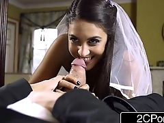 Horny Wedding Guest MILF Teaches Young Newly Weds -  Leigh Darby, Carolina Abril