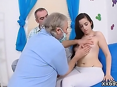 Bf assists with hymen physical and drilling of virgin sweetie