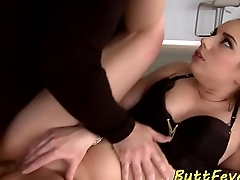 Glam eurobabe assfucked and mouthjizzed