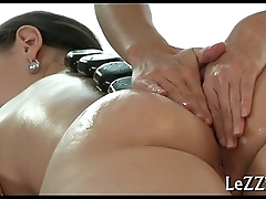 Gripping pussy gratifying