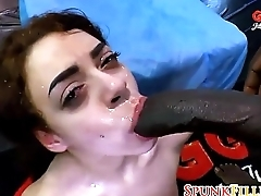 Venal German Bitch Gets Scuzzy Gangbang Bukkake