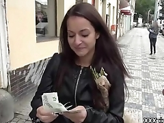 Public Blowjob for cash In Open Street From European Slut 17