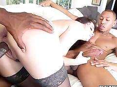 Getting Double Teamed by Black Cock is Her Fantasy
