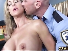 Big tits milf fucked by police officer