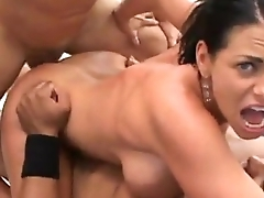 Big Breasted Latina Milf Gets Banged By Black Fat Cocks