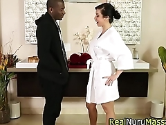 Massaging asian black