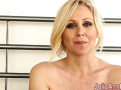 Milf Julia Ann Teases You With Lingerie &amp_ Helps You Cum!