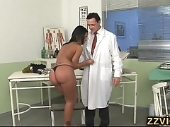Black Angelika fucked by horny doctor