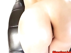 Bootyful petite gets her ass cumdrenched