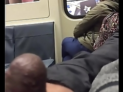 Sexy Asian Catches Wanker Jerking Hard Cock on a Public Bus pt 1