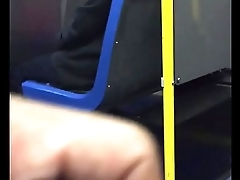 Public Wanker Jerks his Cock for Indian Milf on Public Bus pt 1