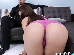 Naughty Teen Evie Olson Gets Punished And Fucked Hard On Sofa