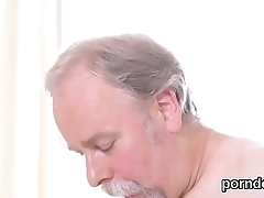 Sultry schoolgirl gets tempted and penetrated off out of one's mind her older teacher