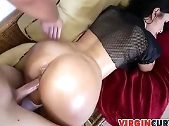 Cumshot Splattered On Ava Alvares Ass