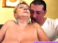 Chubby mature fucked on the couch
