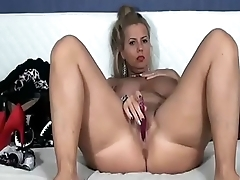 Webcam Hardcore  Blonde Busty Housewife Plays With Dildo