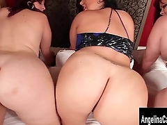 Angelina Castro and 2 Plumpers Play in Bed