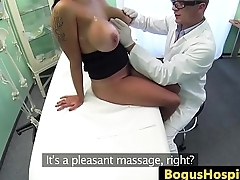 Bigtitted patient pussypounded by her doctor