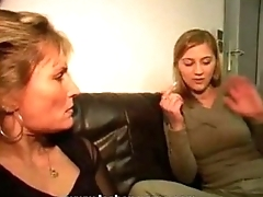 German Lesbian Lesson From Milf
