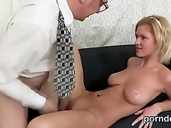 Ideal college girl gets tempted and plowed by her older teacher