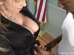 Interracial Office Sex with Sara Jay