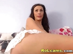 Brunette milf in all directions chubby tits teasing