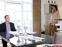 Real Sex Tape With Easy Sluty Horny Cheating Wife (satin bloom) video-25