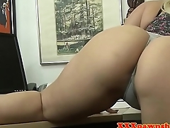 Busty pawnee fucked for cash after twerking
