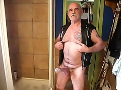 Daddy pumping his dick