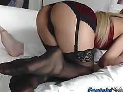 Foot fetish slut riding