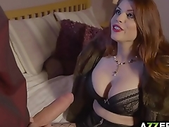 Thick redhead babe Lucia Love fuck in the ass